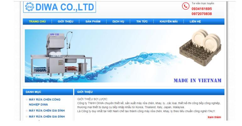 máy rửa bát công nghiệp diwa