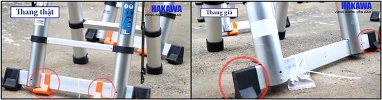 hướng dẫn phân biệt thang hakawa thật giả