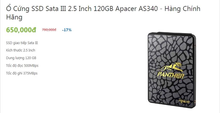 ổ cứng ssd giá rẻ