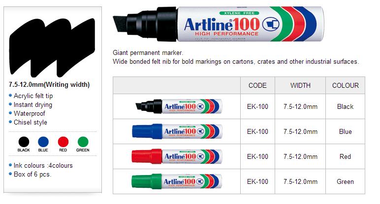 Bút lông dầu ngòi lớn Artline EK-100