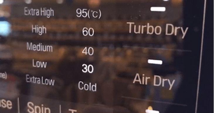 Thay đổi nhiệt độ nước trên máy giặt LG F2721HTTV