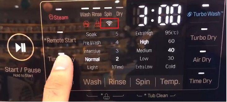 Tính năng Wifi trên máy giặt LG F2721HTTV
