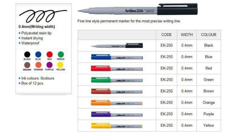Bút lông dầu Artline EK-250