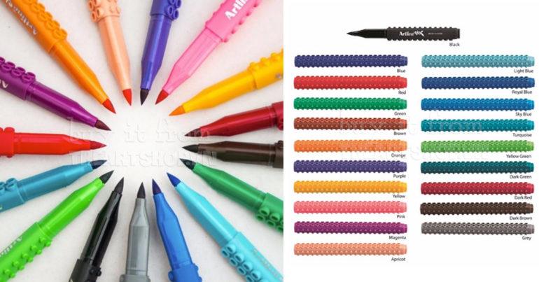 Bút artlineStix Brush Marker với 20 màu tươi sáng đẹp mắt thỏa sức sáng tạo