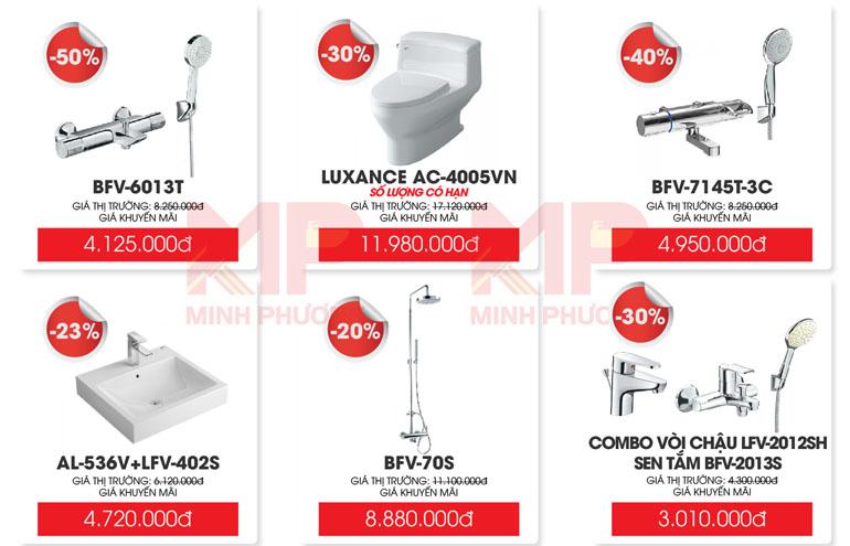 Một số sản phẩm ưu đãi của hãng INAX